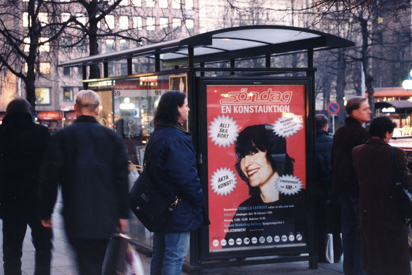 Large selling posters with my face were placed around Stockholm. Photo: Hans Skoglund